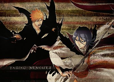 Bleach, Kurosaki Ichigo, Kuchiki Rukia - related desktop wallpaper