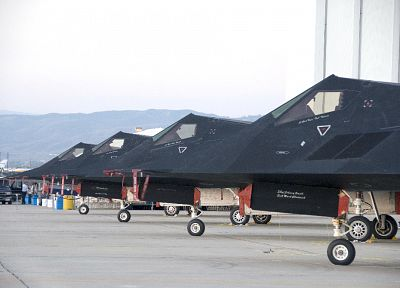 aircraft, military, stealth, Lockheed F-117 Nighthawk - desktop wallpaper