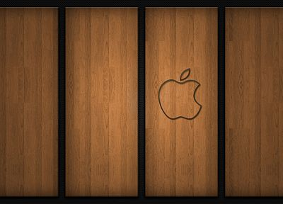 wood, Apple Inc., logos - related desktop wallpaper