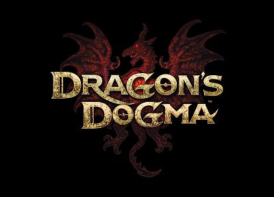 video games, dragons, Capcom, fantasy art, logos, Dragons Dogma, Dogma - related desktop wallpaper
