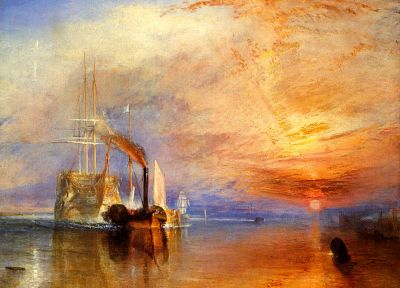 sunset, paintings, England, artwork, Turner - desktop wallpaper