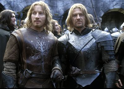 The Lord of the Rings, Sean Bean, Gondor, Faramir, Boromir, David Wenham - random desktop wallpaper