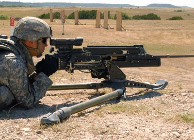 machine gun, military, men, US Army, .50 cal, gunner, browning m2 - random desktop wallpaper