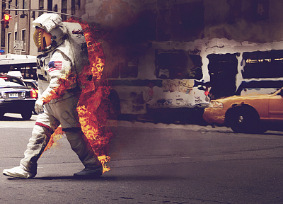 fire, riots, astronauts - related desktop wallpaper