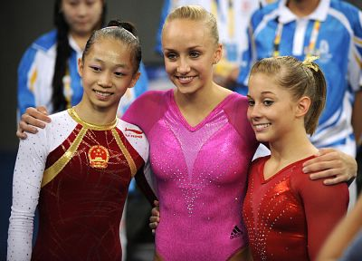 women, Shawn Johnson, nastia liukin - random desktop wallpaper