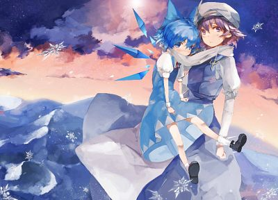video games, Touhou, Cirno, Letty Whiterock, anime girls, duplicate - random desktop wallpaper