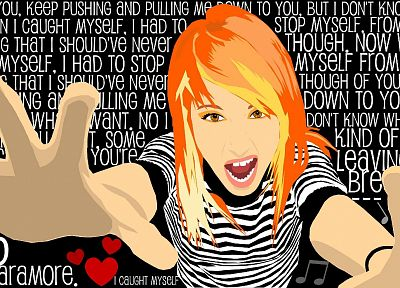 Hayley Williams, Paramore, music, vectors, celebrity, lyrics, music bands, band - related desktop wallpaper