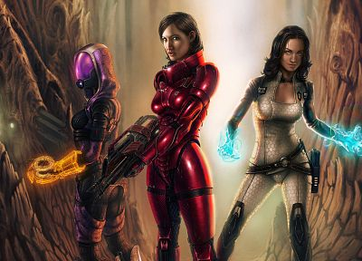 video games, Mass Effect, Yvonne Strahovski, Miranda Lawson, BioWare, FemShep, Commander Shepard, Tali Zorah nar Rayya - related desktop wallpaper