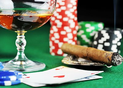 poker, poker chips, Casino, cigars - random desktop wallpaper