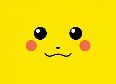 Pokemon, yellow, Pikachu, simple background - related desktop wallpaper
