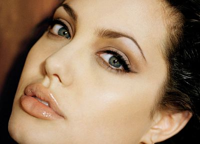 women, Angelina Jolie, lips, faces - random desktop wallpaper