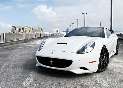 white, cars, Ferrari, vehicles, Ferrari California - related desktop wallpaper