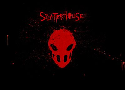 video games, logos, splatterhouse, splatters - random desktop wallpaper