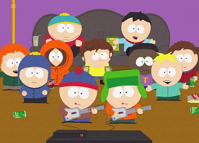 South Park, Eric Cartman, Stan Marsh, Guitar Hero, Kenny McCormick, Kyle Broflovski, Butters Stotch - related desktop wallpaper