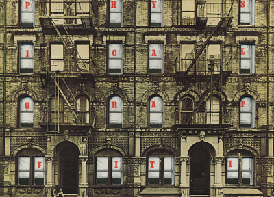 houses, Classic, Led Zeppelin, Rock music, album covers, physical graffiti, 70's - random desktop wallpaper
