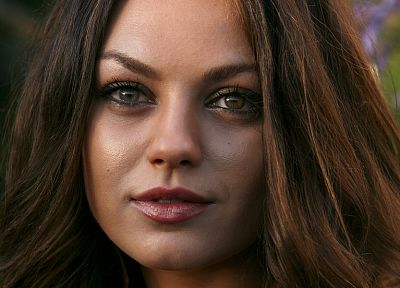 women, Mila Kunis, actress, faces - random desktop wallpaper