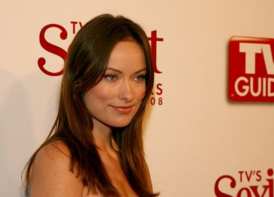 brunettes, women, Olivia Wilde, green eyes - random desktop wallpaper
