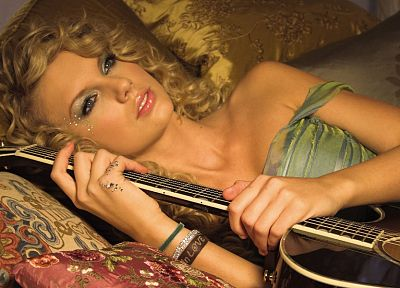 women, Taylor Swift, models, celebrity, guitars - desktop wallpaper