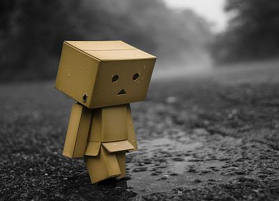 sad, lonely, Danboard, selective coloring - random desktop wallpaper
