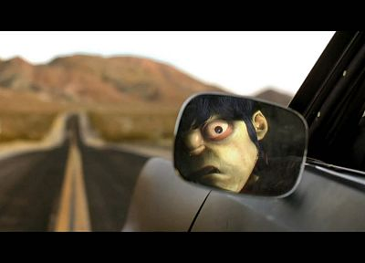 Gorillaz, Murdoc, side car mirror - random desktop wallpaper