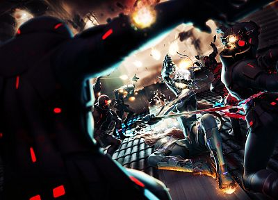 soldiers, video games, blood, weapons, artwork, Elpinoy - related desktop wallpaper