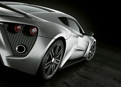 cars, vehicles, Zenvo ST1, Zenvo, black background, rear angle view - random desktop wallpaper