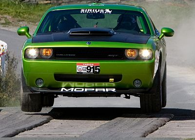 cars, jumping, Dodge Challenger - random desktop wallpaper