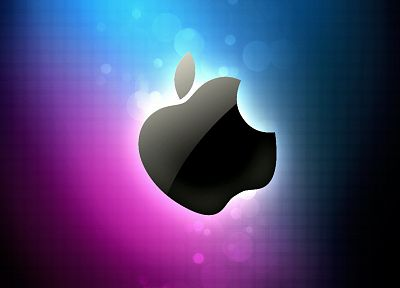 blue, pink, Apple Inc., Mac, logos - desktop wallpaper