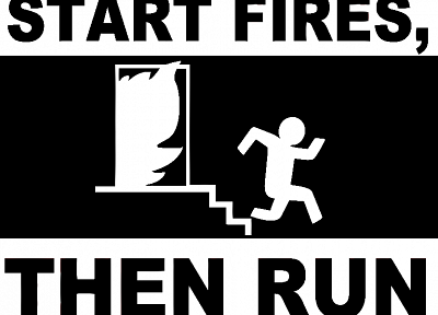 text, fire, funny, monochrome, stick figures - related desktop wallpaper