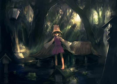 nature, Touhou, Goddess, Moriya Suwako - random desktop wallpaper