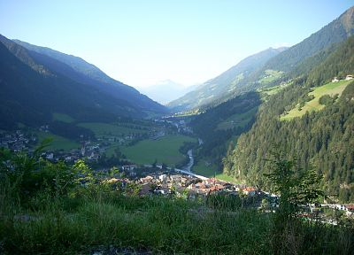 mountains, landscapes, nature, forests, valleys, Italy, villages, Alps, meran - desktop wallpaper