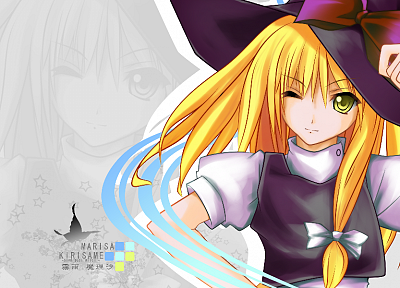 Touhou, Kirisame Marisa, witches - random desktop wallpaper
