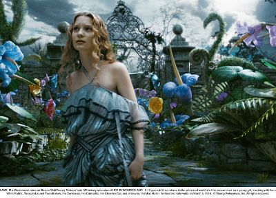 women, movies, dress, actress, Alice in Wonderland, Mia Wasikowska, Alice Kingsleigh - random desktop wallpaper