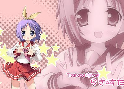 Lucky Star, school uniforms, Hiiragi Tsukasa - desktop wallpaper
