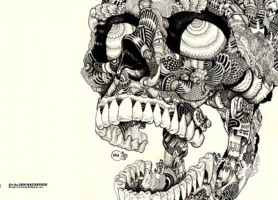 skulls, artwork, sugar skulls - random desktop wallpaper