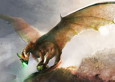 wings, dragons, fantasy art, artwork - related desktop wallpaper