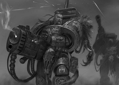 space marines, Adrian Smith, Space Wolf, Warhammer 40, 000 - random desktop wallpaper