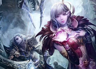 fantasy, video games, Aion, artwork - related desktop wallpaper