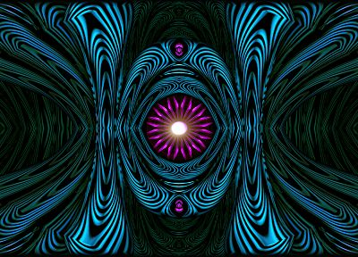 abstract, blue, pink, fractals, symmetry, Kaleidoscope - related desktop wallpaper