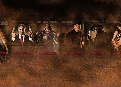 movies, Jessica Alba, Michelle Rodriguez, Robert De Niro, Machete, Steven Seagal, Danny Trejo - related desktop wallpaper