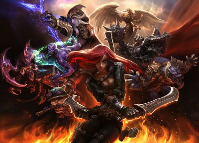 League of Legends, Teemo, Kayle, Warwick, Ryze, Katarina the Sinister Blade, Mordekaiser, Ashe the Frost Archer - related desktop wallpaper