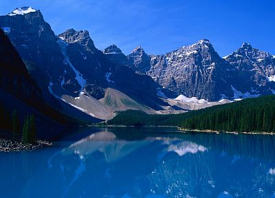 mountains, landscapes, nature, trees, lakes, reflections - related desktop wallpaper