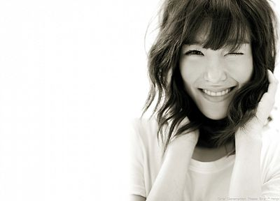 women, Girls Generation SNSD, celebrity, Asians, wink, simple background, Tiffany Hwang - random desktop wallpaper