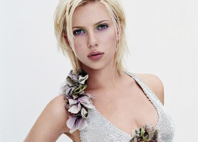 blondes, women, Scarlett Johansson, dress, actress - desktop wallpaper