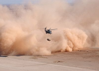 military, helicopters, dust, vehicles - desktop wallpaper