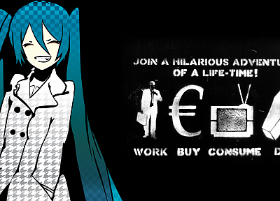 work, Vocaloid, Hatsune Miku - desktop wallpaper
