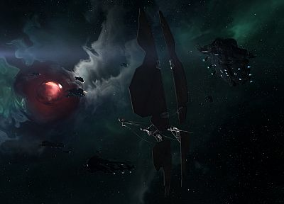 outer space, stars, galaxies, planets, EVE Online, spaceships, vehicles, sleepers, battleships - desktop wallpaper