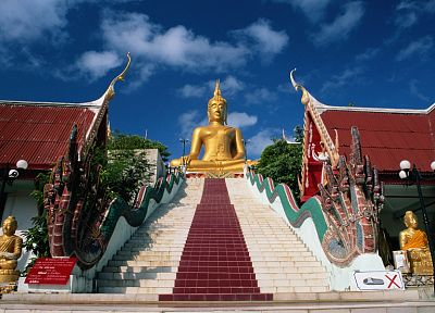 stairways, religion, naga, Buddha, Thailand, temples - related desktop wallpaper
