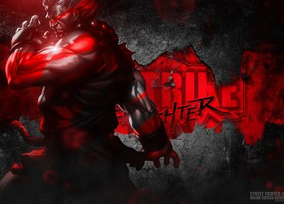 Akuma, Bosslogic, Artgerm, Street Fighter III: 3rd Strike Online Edition - random desktop wallpaper