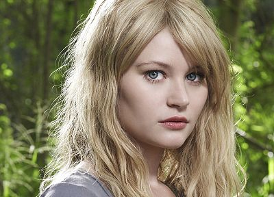 blondes, women, blue eyes, actress, Emilie de Ravin - related desktop wallpaper
